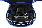 High angle engine detail of a 2019 BMW 3 Series M Sport 4 Door Sedan