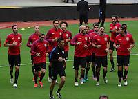 San Jose, Costa Rica - November 14, 2016: The U.S. Men's National team prepare for their Hexagonal World Cup World Cup Qualifying game vs Costa Rica at Estadio Nacional de Costa Rica.