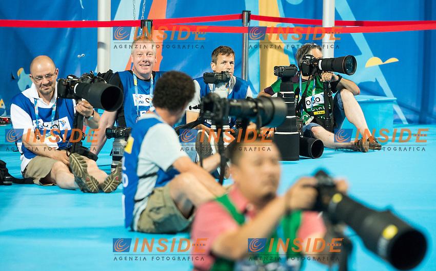 Photographers<br /> Day 9 01/08/2015<br /> XVI FINA World Championships Aquatics<br /> Synchro<br /> Kazan Tatarstan RUS July 24 - Aug. 9 2015 <br /> Photo Giorgio Scala/Deepbluemedia/Insidefoto