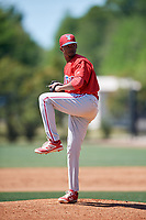 Philadelphia Phillies pitcher Felix Paulino (27) during a Minor League Spring Training game against the Pittsburgh Pirates on March 23, 2018 at the Carpenter Complex in Clearwater, Florida.  (Mike Janes/Four Seam Images)
