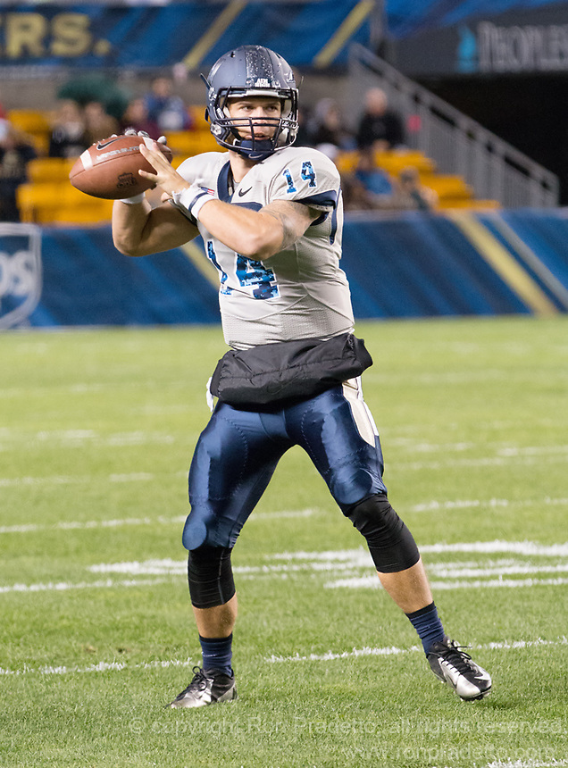 Taylor Heinicke. The Pitt Panthers defeated the Old Dominion Monarchs 35-24 at Heinz Field, Pittsburgh, Pennsylvania on October 19, 2013.
