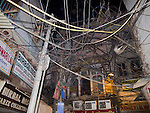 Electric and telephone wires, Old Delhi