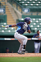 Tampa Bay Rays Jesus Sanchez (81) during an Instructional League game against the Baltimore Orioles on September 19, 2016 at Ed Smith Stadium in Sarasota, Florida.  (Mike Janes/Four Seam Images)