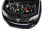 Car Stock 2017 Dacia Logan-MCV Laureate 5 Door Wagon Engine  high angle detail view