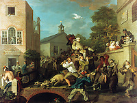 William Hogarth:  An Election.  Chairing the Member.  Trustees of Sir John Soane's Museum.  Reference only.