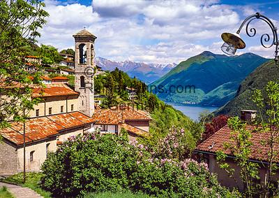 Schweiz, Tessin, Bergdorf Monte Bre am Luganer See | Switzerland, Ticino, mountain village Monte Bre at Lago Lugano