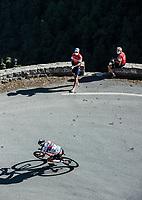 Col de Turini descent with David de la Cruz (ESP/UAE)<br /> <br /> 107th Tour de France 2020 (2.UWT)<br /> (the 'postponed edition' held in september)<br /> Stage 2 from Nice to Nice 186km<br /> ©kramon