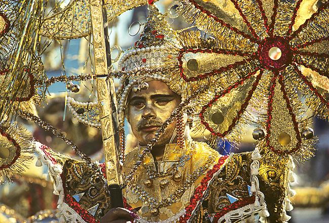 Fancy Division Reveler, Mummers Parade, New Years, Philadelphia, Pennsylvania