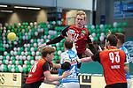 Marian Michalczik (Berlin) beim Spiel in der Handball Bundesliga, Frisch Auf Goeppingen - Fuechse Berlin.<br /> <br /> Foto © PIX-Sportfotos *** Foto ist honorarpflichtig! *** Auf Anfrage in hoeherer Qualitaet/Aufloesung. Belegexemplar erbeten. Veroeffentlichung ausschliesslich fuer journalistisch-publizistische Zwecke. For editorial use only.