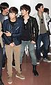 K-Pop Group 2PM 2AM Arrives at Haneda International Airport