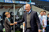 Manager of West Bromwich Albion, Tony Pulis arrives at the stadium ahead of the Premier League match between Swansea City and West Bromwich Albion at The Liberty Stadium, Swansea, Wales, UK. Sunday 21 May 2017