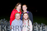 Celebrating at the home coming of the victorious Kerry team, All Ireland Camogie Junior Champions in Causeway on Sunday night.  <br /> Front l to r: Nicole Deenihan and Rachel Lennon,<br /> Back l to r: Geraldine Lennon and Veronica Deenihan.