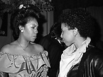 Mary Wilson and Nonah Hendrix on January 15, 1983 in New York City.