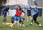 James Tavernier going past and tangling up everyone in his wake at training