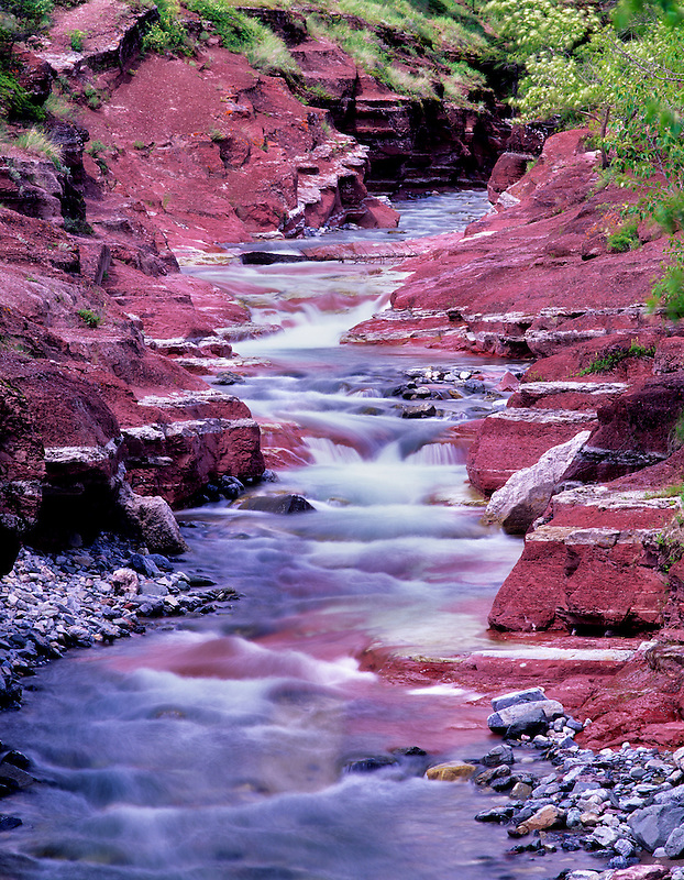 Red Rock Canyon. Waterton National Park, Canada.