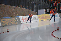 SPEED SKATING: COLLALBO: Arena Ritten, 13-01-2019, ISU European Speed Skating Championships, European Champions Allround Sven Kramer (NED), Patrick Roest, ©photo Martin de Jong