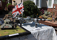 Model of  WW2  aircraft in Sidcup, Kent, England 8th May 2020. Victory in Europe (VE) 75th Anniversary Celebrations during the UK Lockdown due to the Coronavirus pandemic. Photo by Alan Stanford / PRiME Media Images
