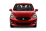Car photography straight front view of a 2020 Mitsubishi Mirage-G4 SE 4 Door Sedan Front View