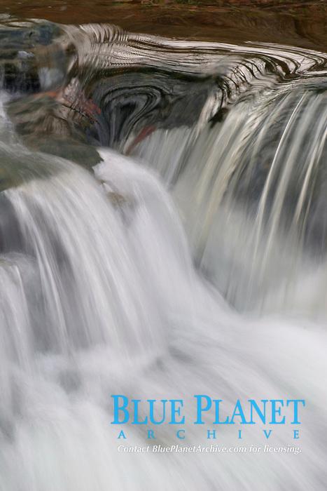 Water cascades down a mountain stream in central Ohio. (do)