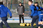 St Johnstone Training…. 29.12.20<br />Manager Callum Davidson pictured watching training at McDiarmid Park this morning ahead of tomorrows game against Hamilton<br />Picture by Graeme Hart.<br />Copyright Perthshire Picture Agency<br />Tel: 01738 623350  Mobile: 07990 594431
