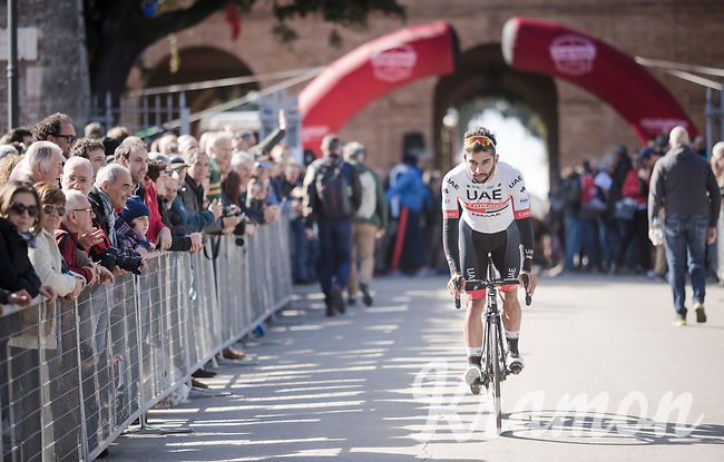 Fernando Gaviria (COL/UAE-Emirates)<br /> <br /> 13th Strade Bianche 2019 (1.UWT)<br /> One day race from Siena to Siena (184km)<br /> <br /> ©kramon