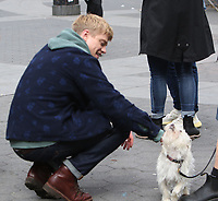 NEW YORK, NY - MAY 4:  Tom Rhys Harries on the set of the new Apple Tv series Suspicion at Washington Square Park in New York City on May 04, 2021. <br /> CAP/MPI/RW<br /> ©RW/MPI/Capital Pictures