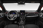 Stock photo of straight dashboard view of 2021 Renault Arkana RS-Line 5 Door SUV Dashboard
