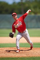 GCL Cardinals relief pitcher Colton Thomson (5) during the second game of a doubleheader against the GCL Marlins on August 13, 2016 at Roger Dean Complex in Jupiter, Florida.  GCL Cardinals defeated GCL Marlins 2-0.  (Mike Janes/Four Seam Images)