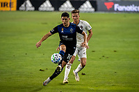 SAN JOSE, CA - SEPTEMBER 05: Cristian Espinoza #10 during a game between Colorado Rapids and San Jose Earthquakes at Earthquakes Stadium on September 05, 2020 in San Jose, California.