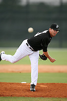 April 14, 2009:  Pitcher Jonathan (Jon) Fulton of the Florida Marlins extended spring training team delivers a pitch during a game at Roger Dean Stadium Training Complex in Jupiter, FL.  Photo by:  Mike Janes/Four Seam Images