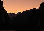 Yosemite Valley Salmon Silhouette at Dawn in Spring, Discovery View, Tunnel View, Yosemite National Park