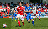 Nathan Sheron of Fleetwood Town during the Sky Bet League 1 match between Fleetwood Town and Peterborough at Highbury Stadium, Fleetwood, England on 19 April 2019. Photo by Stefan Willoughby.