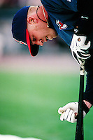 Richie Sexson of the Cleveland Indians during a game against the Anaheim Angels at Angel Stadium circa 1999 in Anaheim, California. (Larry Goren/Four Seam Images)