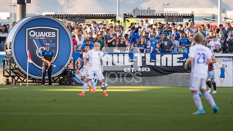 SAN JOSÉ CA - JULY 27: San Jose Earthquakes fans during a Major League Soccer (MLS) match between the San Jose Earthquakes and the Colorado Rapids on July 27, 2019 at Avaya Stadium in San José, California.