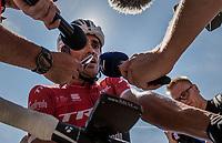 Alberto Contador (ESP/Trek-Segafredo) interviewed post-finish <br /> <br /> 69th Critérium du Dauphiné 2017<br /> Stage 8: Albertville > Plateau de Solaison (115km)