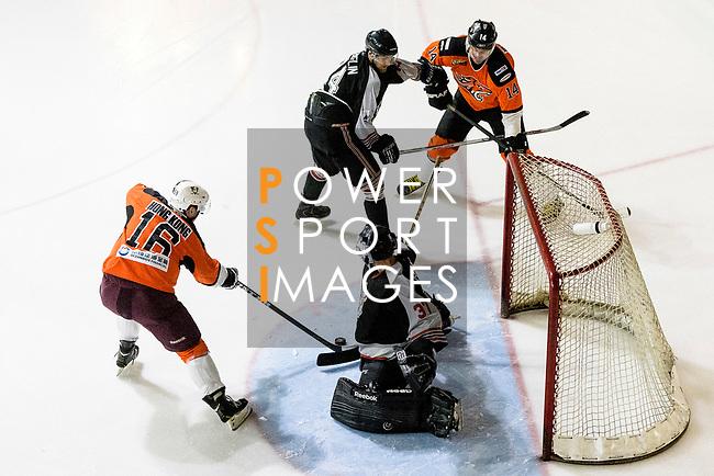 Nordic Vikings vs HK Tigers during the Mega Ice Hockey 5s on May 03, 2018 in Hong Kong, Hong Kong. Photo by Marcio Rodrigo Machado / Power Sport Images