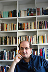 August 8, 2004. New York, New York.. Author Salman Rushdie discusses his new book and the state of US politics.