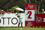 CHON BURI, THAILAND - FEBRUARY 17:  Ai Miyazato of Japan tees off on the 2nd hole during day one of the LPGA Thailand at Siam Country Club on February 17, 2011 in Chon Buri, Thailand.  Photo by Victor Fraile / The Power of Sport Images