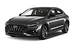 2020 Hyundai i30-Fastback Sky 5 Door Hatchback Angular Front automotive stock photos of front three quarter view