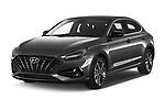 2020 Hyundai i30-Fastback Sky 5 Door Hatchback Angular Front automotive stock photos of front three quarter view