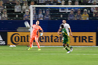 CARSON, CA - OCTOBER 07: Steve Clark #12 GK of the Portland Timbers heaves a ball downfield during a game between Portland Timbers and Los Angeles Galaxy at Dignity Heath Sports Park on October 07, 2020 in Carson, California.