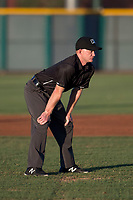 Field umpire Austin Nelson during an Arizona League game between the AZL Reds and the AZL Cubs 2 at Sloan Park on June 18, 2018 in Mesa, Arizona. AZL Cubs 2 defeated the AZL Reds 4-3. (Zachary Lucy/Four Seam Images)