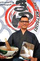 Milano Matsuri 2015<br /> Il grande chef di cucina vegetariana Toshio Tanahashi, massima espressione della cucina Shojin.<br /> The great chef of vegetarian cuisine Toshio Tanahashi, maximum expression of Shojin. <br /> Photo Livio Senigalliesi