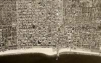 historical aerial photograph of Santa Monica, Los Angeles County,  California 1972