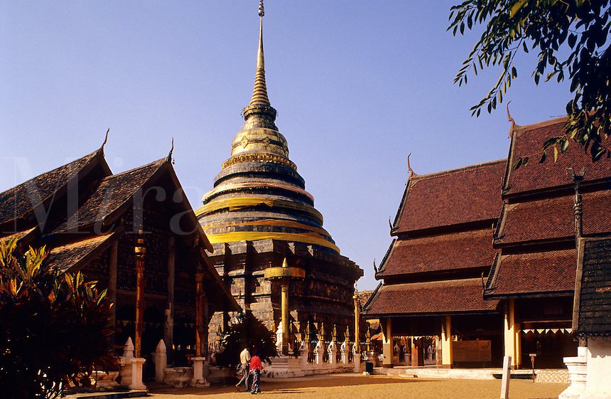 Thailand. Lampang Luang Temple. Lampang. One of the oldest temples in northern Thailand..