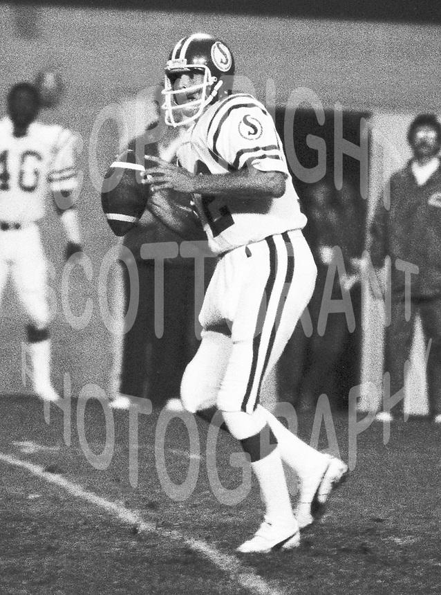 John Hufnagel Saskatchewan Roughrider quarterback  from 1980-1983. Photo Scott Grant