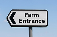 18-7-2021 Farm entrance sign<br /> ©Tim Scrivener Photographer 07850 303986<br />      ....Covering Agriculture In The UK....