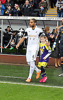 Wednesday, 01 January 2014<br /> Pictured: Ashley Williams.<br /> Re: Barclay's Premier League, Swansea City FC v Manchester City at the Liberty Stadium, south Wales.