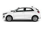 Car Driver side profile view of a 2021 KIA Rio More 5 Door Hatchback Side View