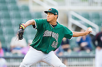 Augusta GreenJackets starting pitcher Luis Ysla (49) in action against the Kannapolis Intimidators at CMC-NorthEast Stadium on July 31, 2014 in Kannapolis, North Carolina.  The Intimidators defeated the GreenJackets 4-3.  (Brian Westerholt/Four Seam Images)